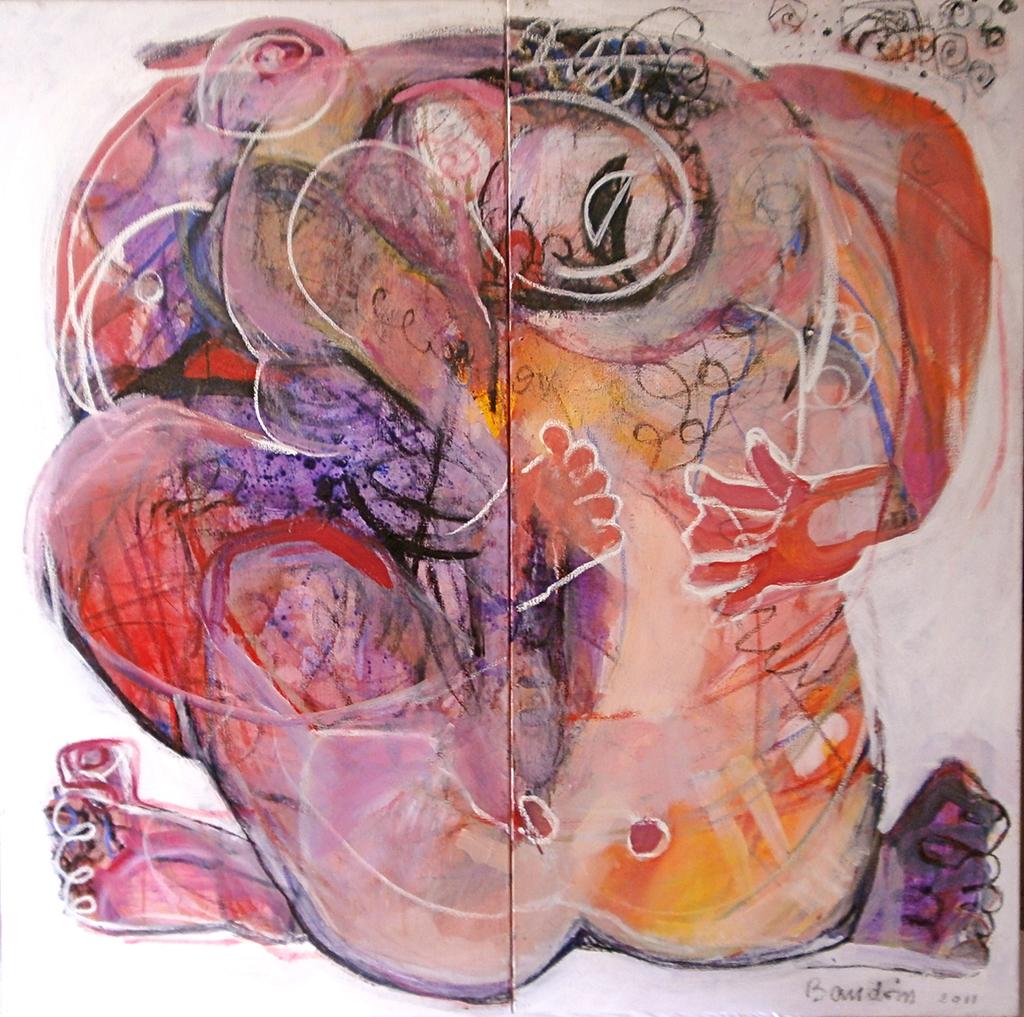 Nu - Acrylique sur toile 120x120