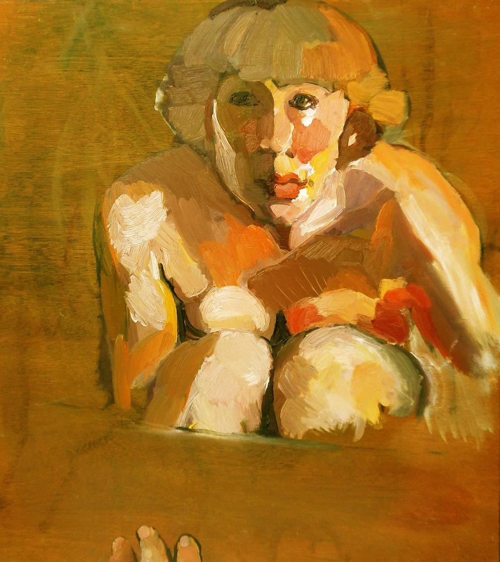 Autoportrait - Huile sur bois 65X73
