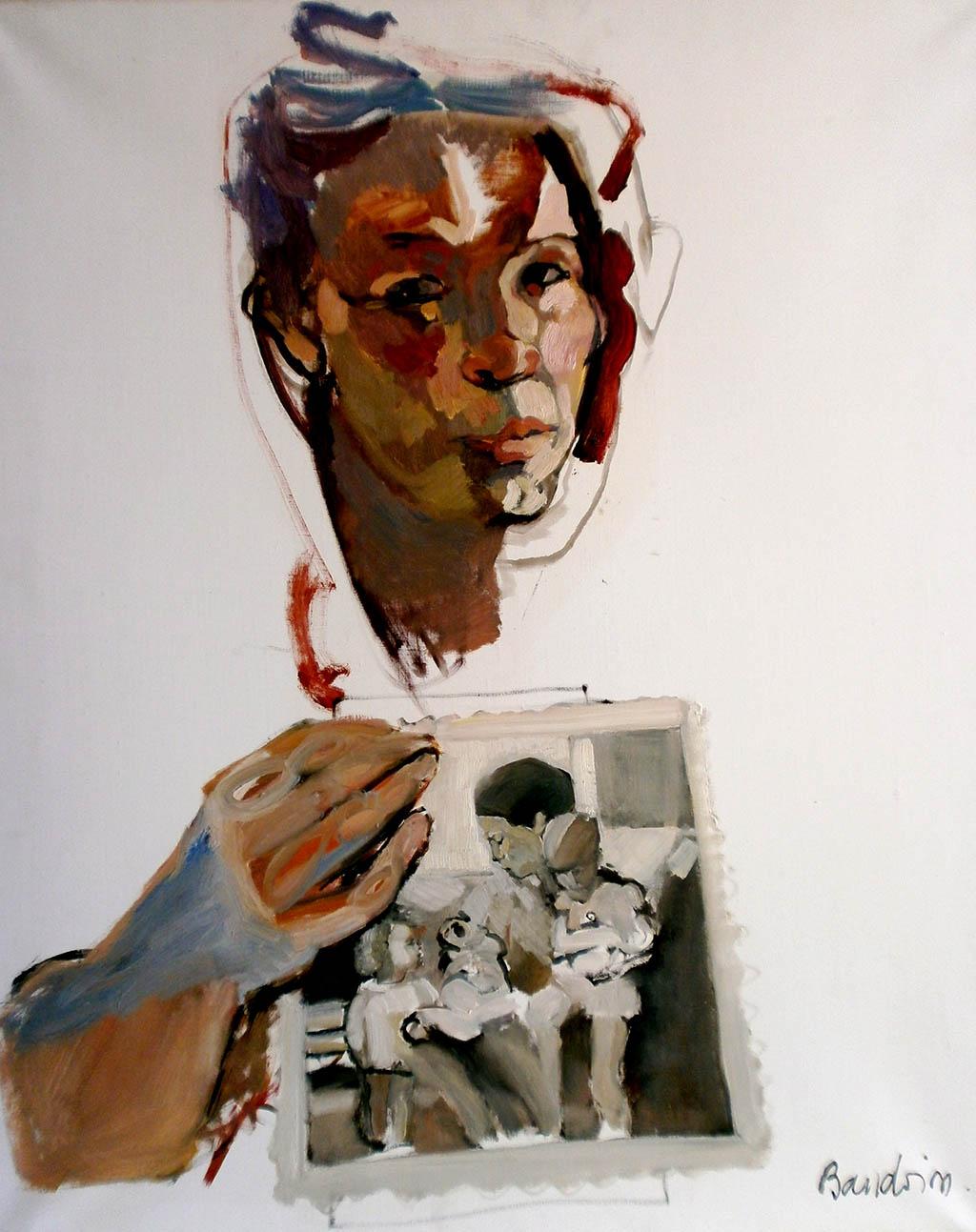 Autoportrait - Huile sur toile 81X100