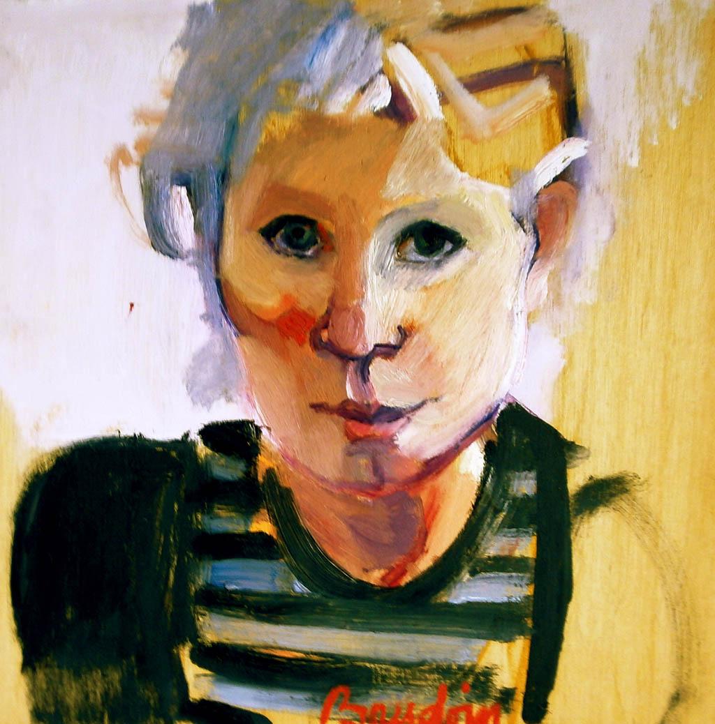 Autoportrait - Huile sur toile 35X35