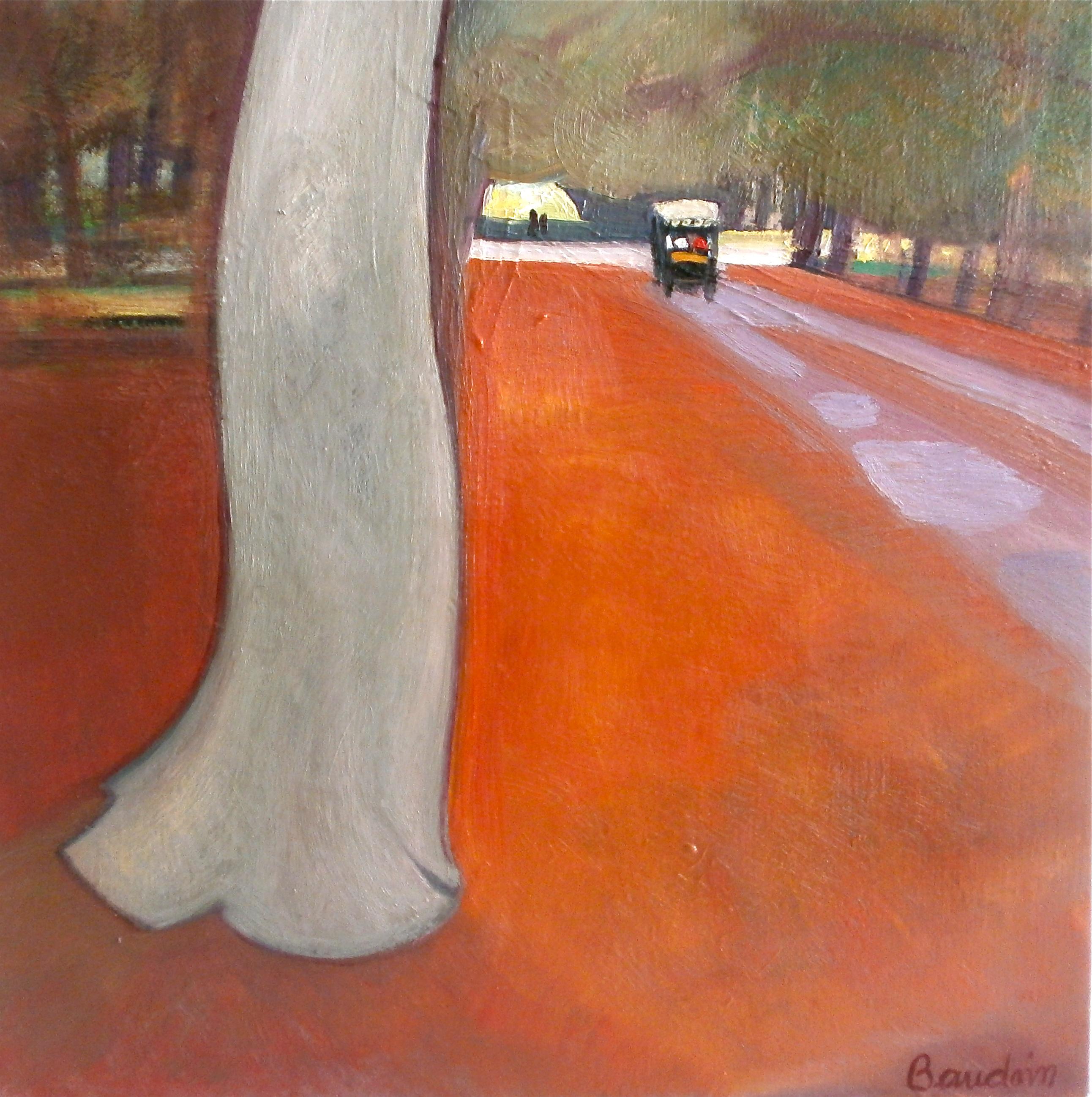 Chemin dans le parc de Fontainebleau - Huile sur toile 60x60