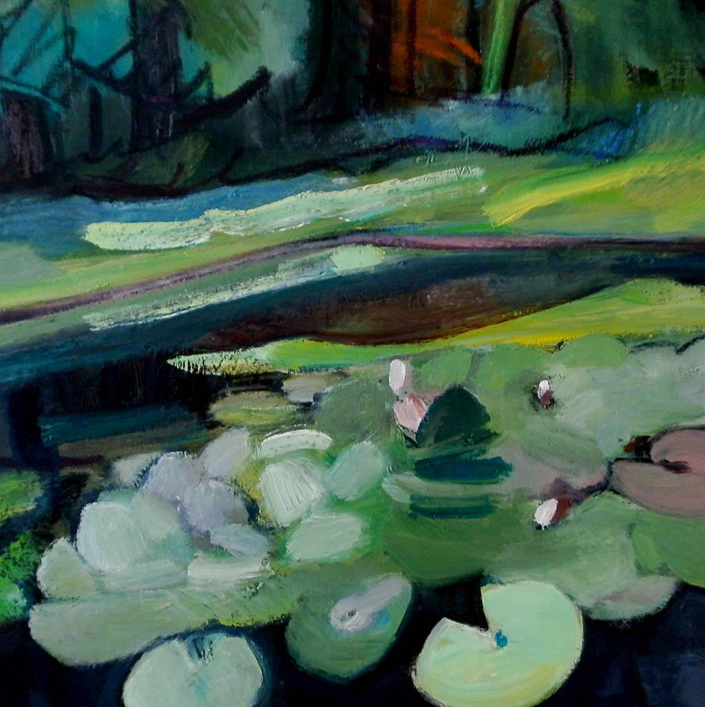 Le vivier du parc de Fontainebleau - Huile sur toile 60x60
