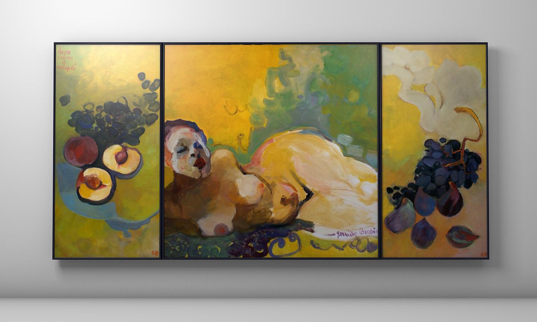 Triptyque - Luxe, Calme et volupté - Huile sur toile : 122x251