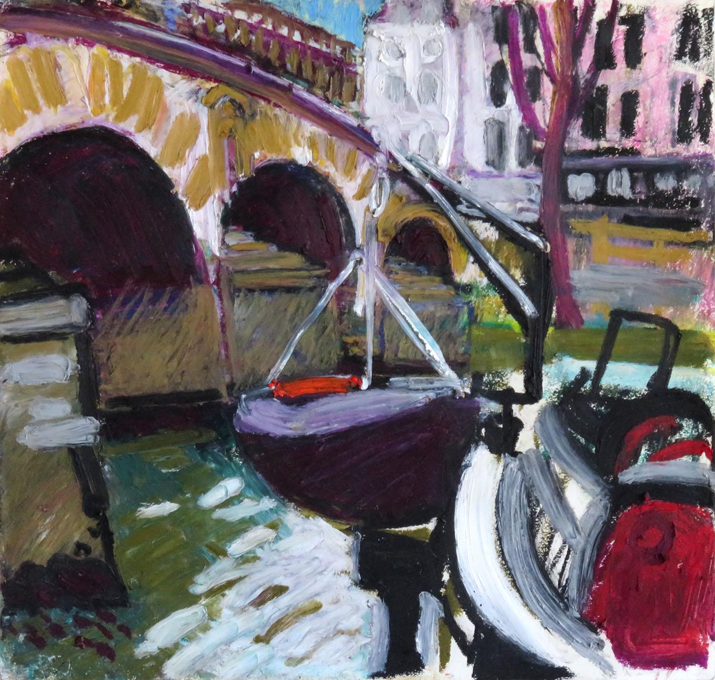 Le pont Marie - Pastel gras 28x30