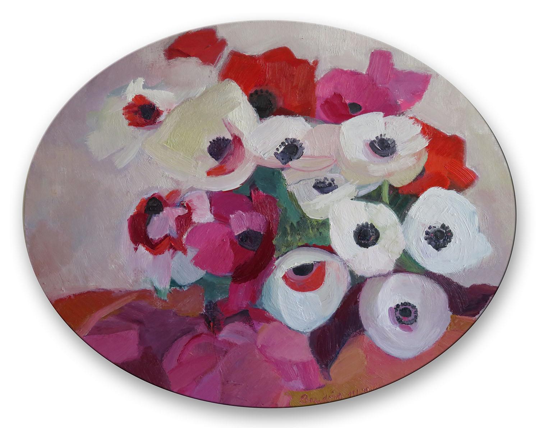 Dans un ovale - Huile sur toile 75x95