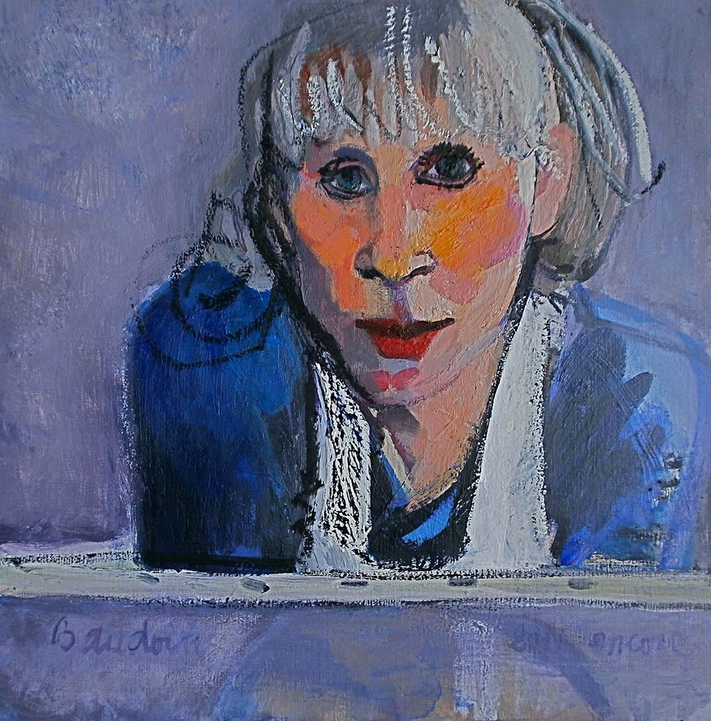Autoportrait - Acrylique pastel gras 50X50