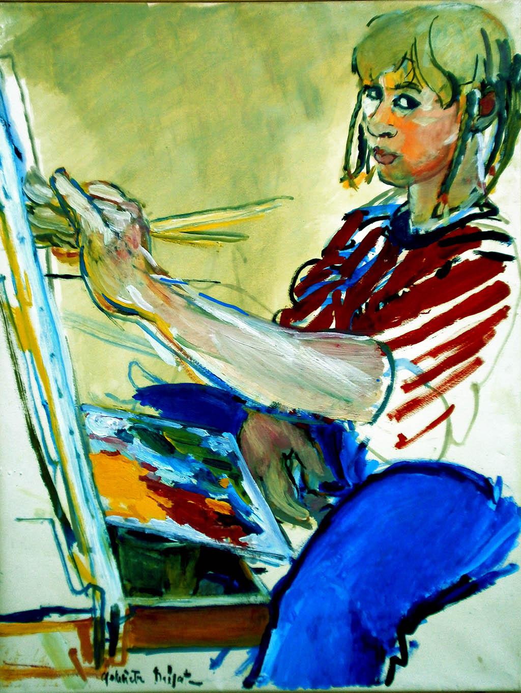 Autoportrait - Huile sur toile 50X65