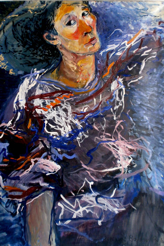 Autoportrait - Huile sur bois 65X92