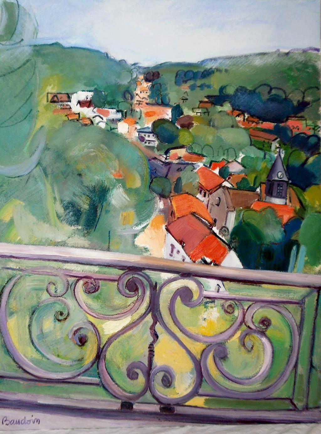 Buc Seine - Huile sur toile 89X116