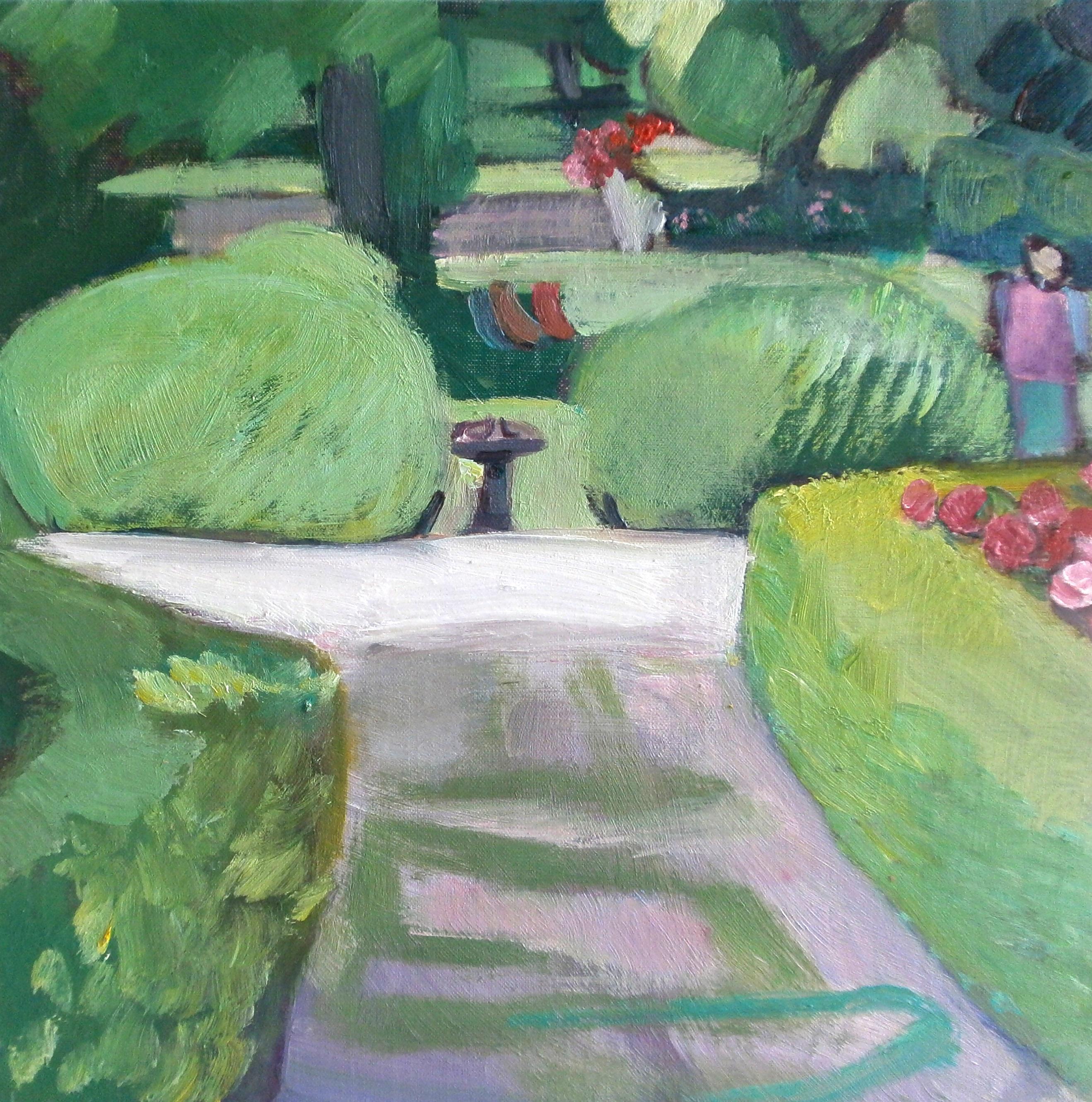 Le parc d'Odile - Huile sur toile 40X40