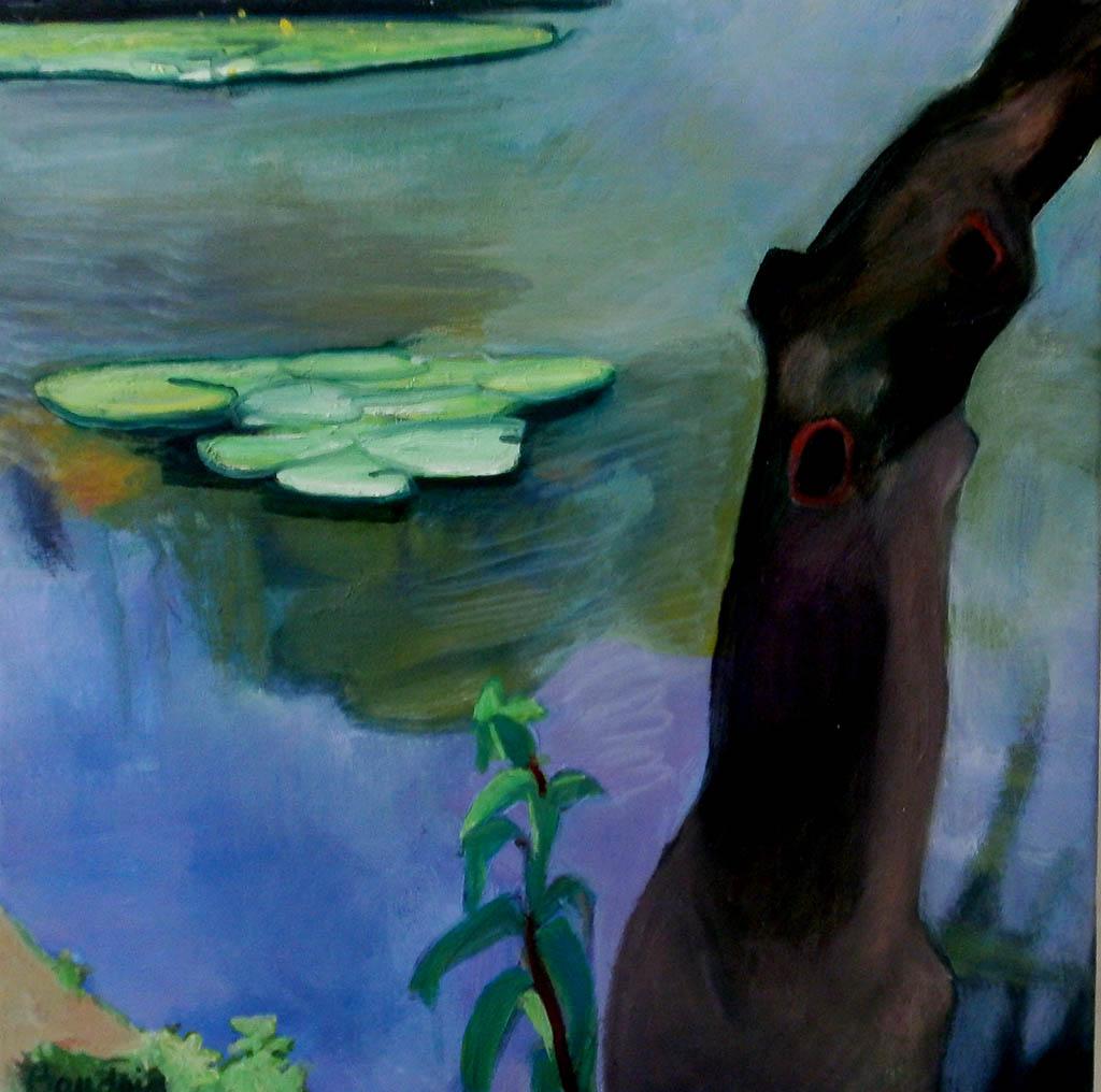 L'arbre - Huile sur toile 60x60