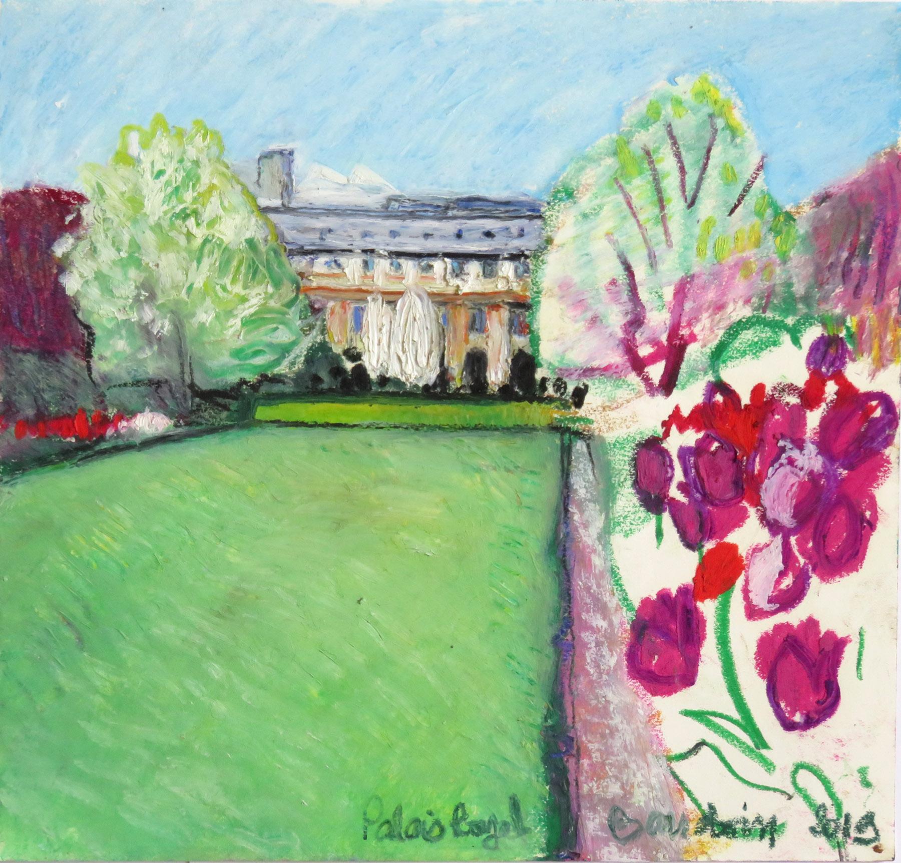 pastel gras le Palais Royal 30 x 28,5